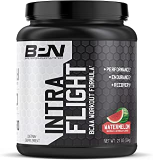 Bare Performance Nutrition, Intra-Flight, Branch Chain Amino Acids, Ultimate Endurance Supplement, Increase Endurance and Stamina, 2:1:1 BCAA + Recovery (Watermelon, 30 Servings)