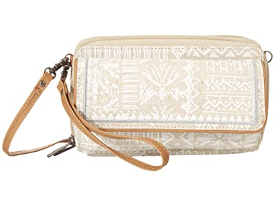 Sakroots Luna Smartphone Crossbody (White Tribal Brave Beauti) Cross Body Handbags