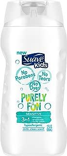 Suave Kids 3 in 1 Shampoo Conditioner Body Wash, Purely Fun Sensitive, 12 oz