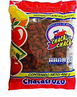 CHACA-CHACA AUTHENTIC CANDY OF FRUITS WITH SALT AND CHILI Mexican Candy with Free Chocolate Kinder Bar Included