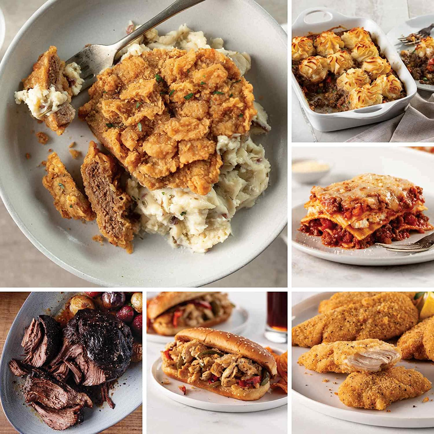 Gourmet Comforts Package from Fried Omaha Steaks Max 44% OFF Chicken Genuine