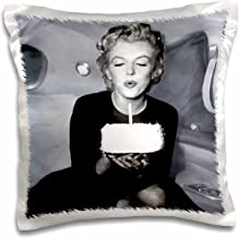 3dRose Marilyn Monroe Pillow Case, 16 x 16