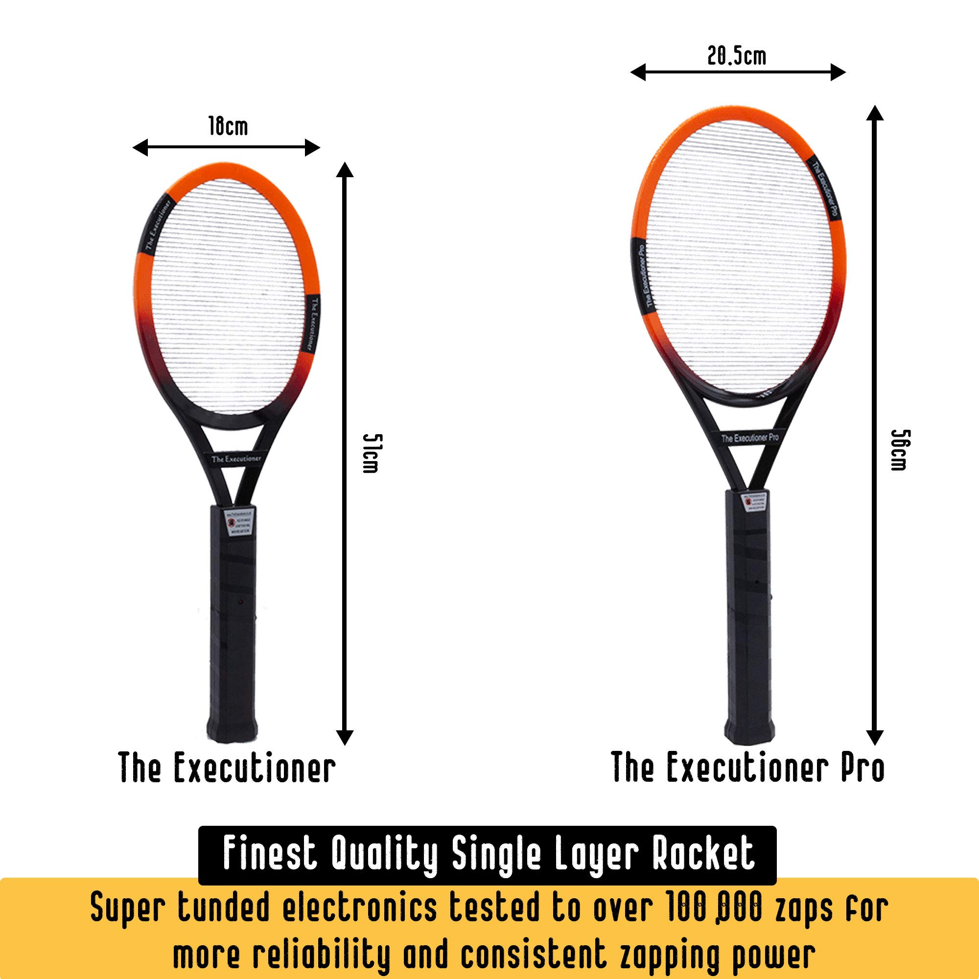 The Executioner Fly Killer Mosquito Swatter Racket Wasp Bug Zapper Indoor Outdoor Over 50cm Long