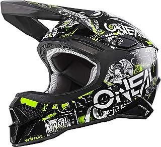 O'NEAL | Motocross Helm | Motocross, Enduro | Sicherheitsnorm ECE 22.05, ABS Schale, Lüftungsöffnungen für optimale Belüftung & Kühlung | 3SRS Helmet Attack 2.0 | Erwachsene | Schwarz Gelb | Größe L