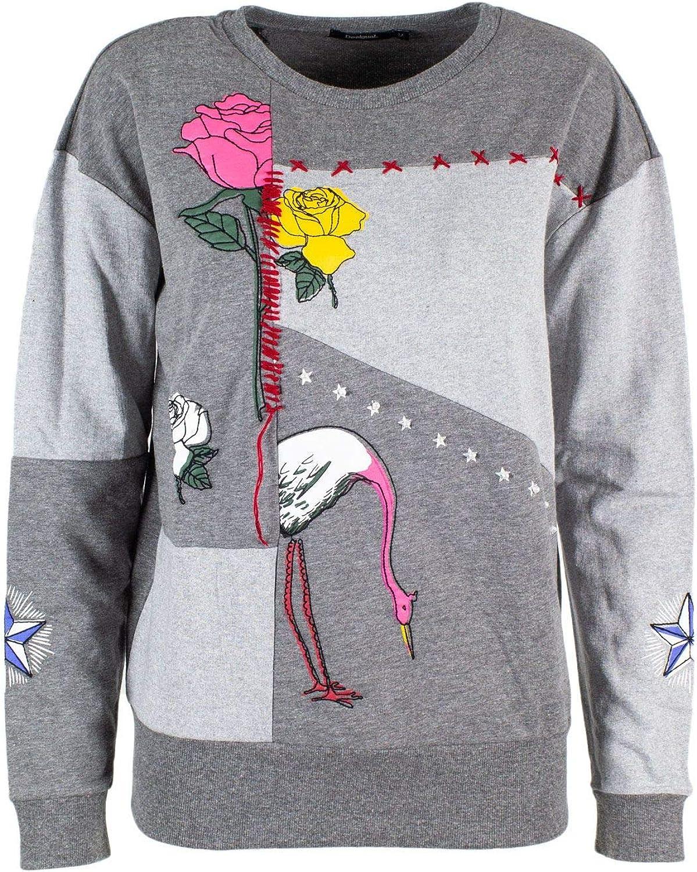Desigual Women's 19SWSK12GREY Grey Cotton Sweatshirt