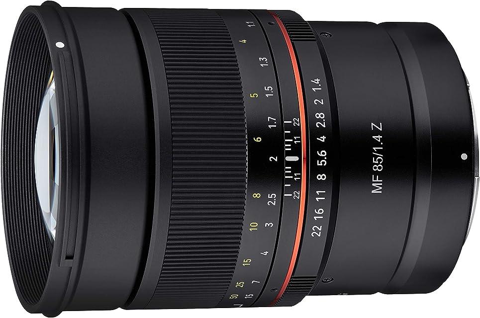 Samyang SA3702 - Objetivo MF para cámara Nikon Z (85 mm F1.4) negro