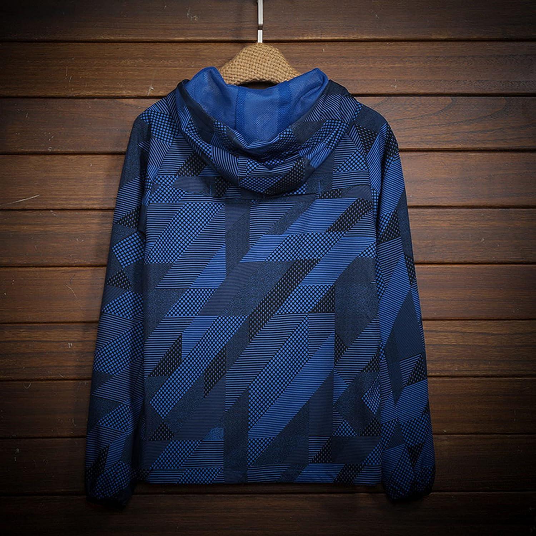 FORUU Windbreaker For Men 2021 Fall Winter Lightweight Trench Coat Printed Hooded Windproof Outdoor Thin Rain Jacket