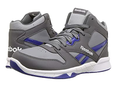 Reebok Kids BB4500 Hi 2 (Little Kid/Big Kid) (Grey/Cobalt Blue) Kids Shoes