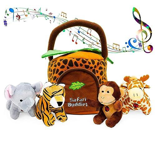 KLEEGER Plush Talking Jungle Animals Toy Set 5 Pcs