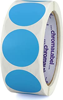 ChromaLabel 1-1/2 inch Color-Code Dot Labels   500/Roll (Light Blue)