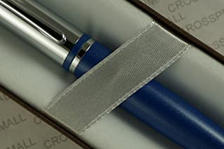 Cross Midnight Metallic Blue Calais with Cross Signature Center Band and Polished Appointments Ball-Point Pen