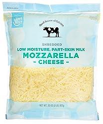 Amazon Brand - Happy Belly Shredded Mozzarella Cheese, Low Moisture Part-Skim Milk, 32 Ounce