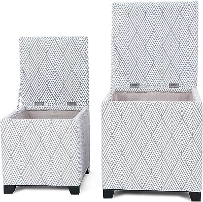 Prime Amazon Com Homepop Leatherette Storage Bench With Wood Tray Inzonedesignstudio Interior Chair Design Inzonedesignstudiocom
