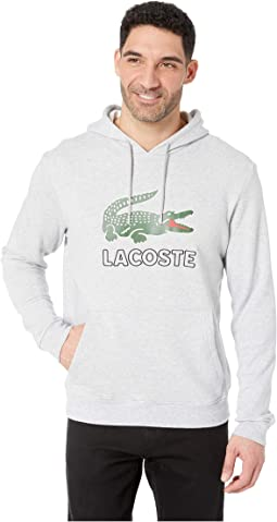 Long Sleeve Graphic Croc Molleton Non Gratte Sweatshirt with Hood