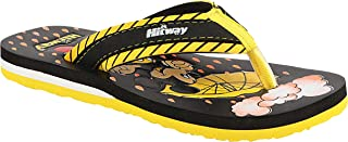 HITWAY Casual Regular Mouse Print Slippers Chappals Slides Flip Flops for Kids Boys Girls