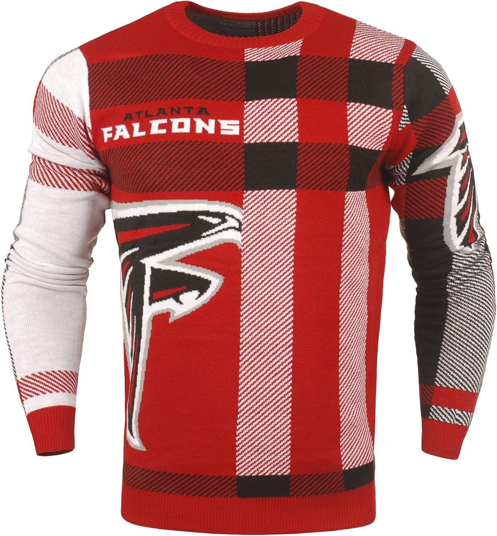 Ranking TOP15 FOCO NFL Dealing full price reduction Men's Plaid Crew Sweater Team Neck Variation