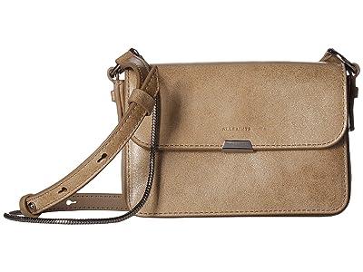 AllSaints Glitz Mini Flap Crossbody (Glittering Gold) Handbags