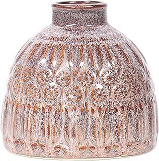 Little Green House Ceramic Vase, Brown