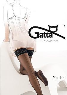 Gatta Matilde  halterlose Strümpfe Damen Strümpfe mit Naht klassisch elegant - Made in Europe