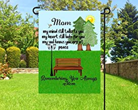 Personalized Flag, Custom Made Flag, Garden Flag, Sympathy Flag, Sympathy Gifts, Loss of Mom, Funeral Gifts, Loss of Dad, Cemetery Decor, 12