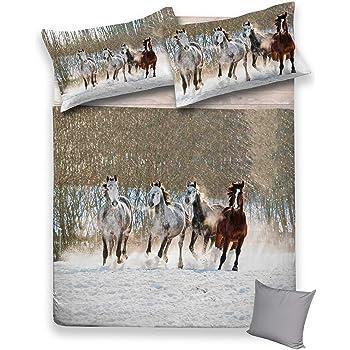 250/x 200 /cm tex family Housse de Couette 2/Places s/érie DIGITY en Coton lac de Montagne/