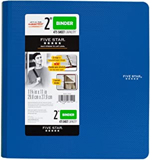 Five Star 2 Inch 3 Ring Binder, Plastic, Blue (73304)