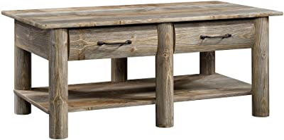 "Sauder Boone Mountain Coffee Table, L: 43.07"" x W: 23.47"" x H: 17.95"", Rustic Cedar"