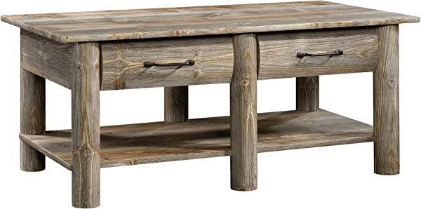Sauder 424608 Boone Mountain Coffee Table Rustic Cedar Finish