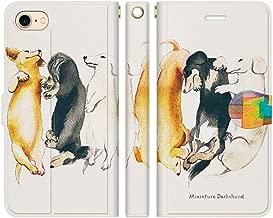 iPhone8 iPhone7 手帳型 ケース カバー ミニチュアダックス NoA 犬 dog アニマル ウェルシュ カーディガン ペンブローク かわいい おしゃれ 人気