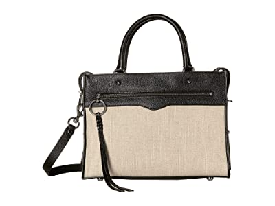 Rebecca Minkoff Bedford Zip Satchel (Natural) Satchel Handbags