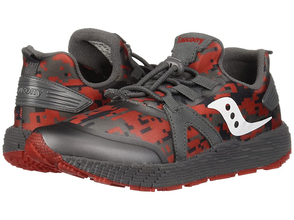 Saucony Kids Voxel 9000 (Little Kid/Big Kid) (Grey/Red) Boys Shoes