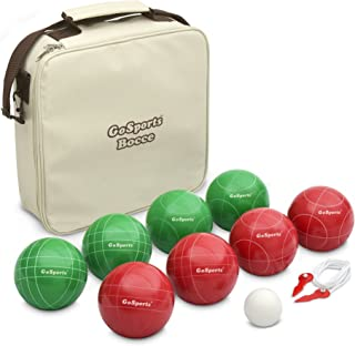 GoSports 100mm Regulation Bocce Set with 8 Balls, Pallino, Case and Measuring Rope..