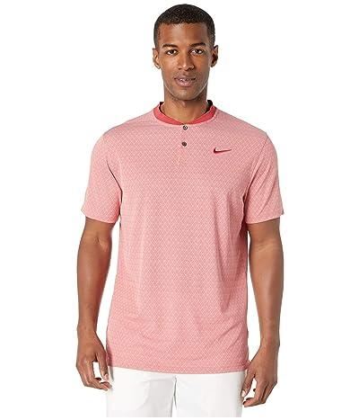 Nike Golf Dry Vapor Polo Texture Bold (Sierra Red/Pure/Sierra Red) Men