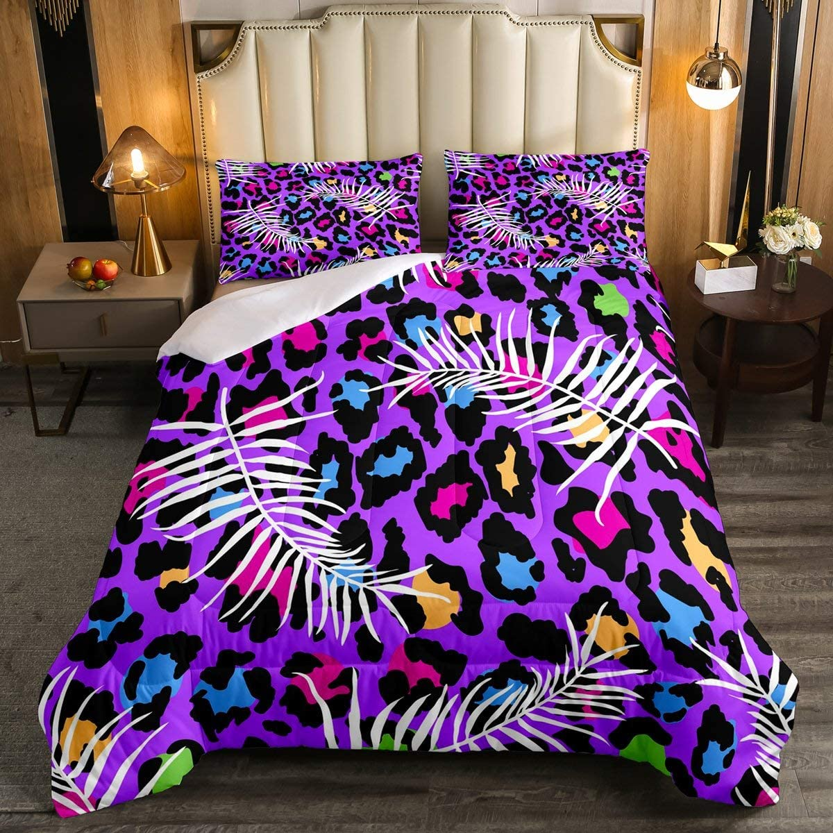 Erosebridal SEAL limited product Leopard Print Special Campaign Man DownComforter Full Size Lea Palm