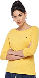 Tommy Hilfiger T-Shirts For Women, Yellow S (WW0WW22668)