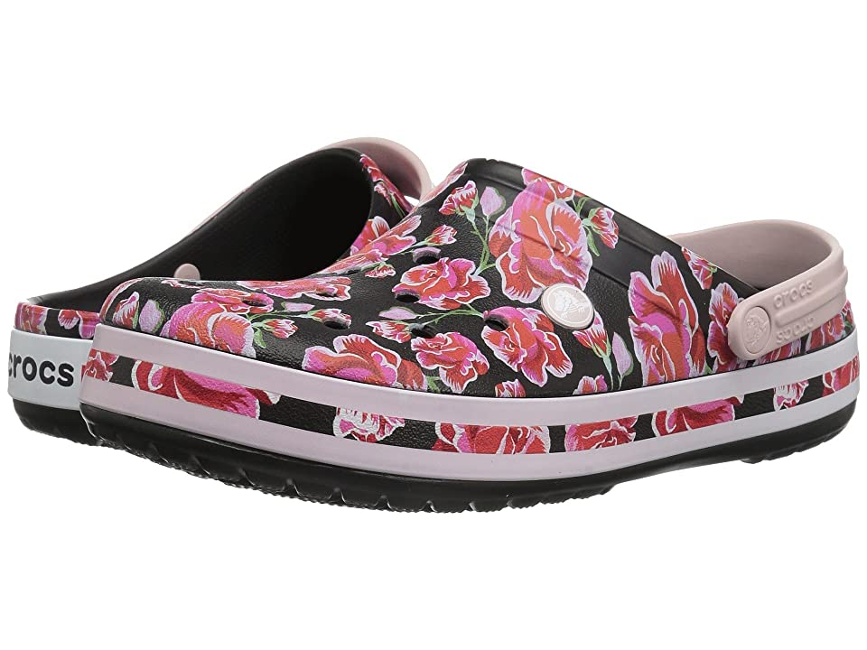Crocs Crocband Graphic III Clog (Floral/Black) Clog Shoes