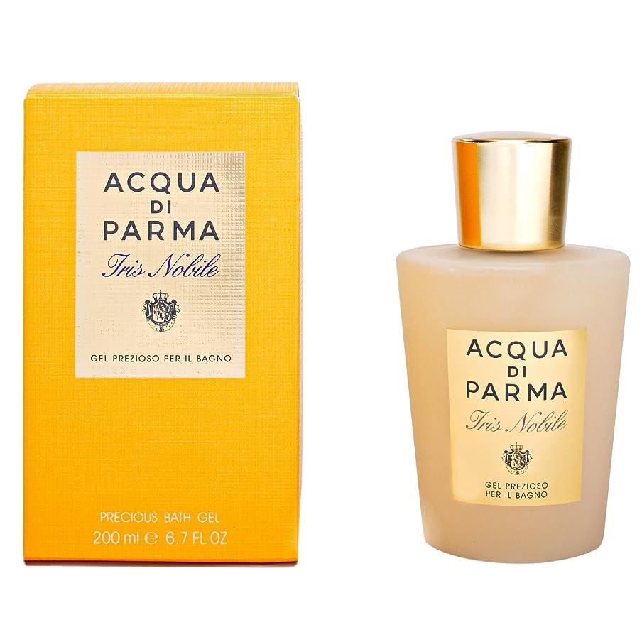 以内に絶望つぼみアクア?ディ?パルマアイリスノビレ風呂ゲル200ミリリットル (Acqua di Parma) (x6) - Acqua di Parma Iris Nobile Bath Gel 200ml (Pack of 6) [並行輸入品]