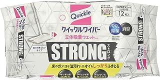 【量贩装】Quickle 除尘掸 地板用清扫工具 立体吸附湿巾 强力 适用于顽固油污 12片装×4包