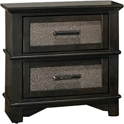 Amazon.com: homelegance 5790 – 4 tapizado Night Stand, café ...