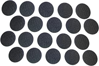 20PCS PHALANX BLACK HOOK SYSTEM FOR INSIDE OF BALLISTIC HELMETS ADHESIVE BACKING SIZE 1 7/8