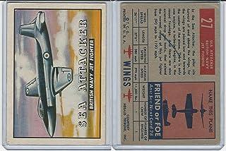 1952 Topps, Wings, 27 Sea Attacker, British Navy Jet Airplane