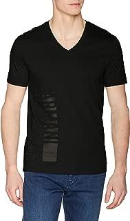 A|X Armani Exchange Men's Short Sleeve V-Neck Large Logo T-Shirt