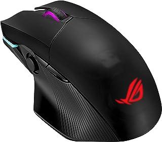 ASUS ROG Chakram Mouse Gaming RGB con 3 tipi di connettività (Wireless/2.4 GHz/Bluetooth), 16000 DPI, ricarica Qi, Switch ...