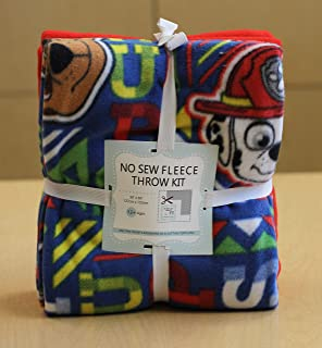Paw Patrol Top Pups No-Sew Throw Fleece Fabric Kit (50x60)
