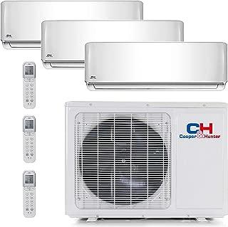 COOPER AND HUNTER Tri 3 Zone Mini Split Ductless Air Conditioner Heat Pump 12000 12000 12000 Multi
