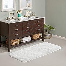 Suchtale Large Bathroom Rug Extra Soft and Absorbent Shaggy Bathroom Mat (24 x 60, White) Machine Washable Microfiber Bath...