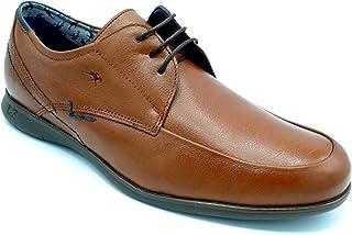 Fluchos 9761 Vacheta Cuero - Zapato con Cordones, Plantilla Extraible.