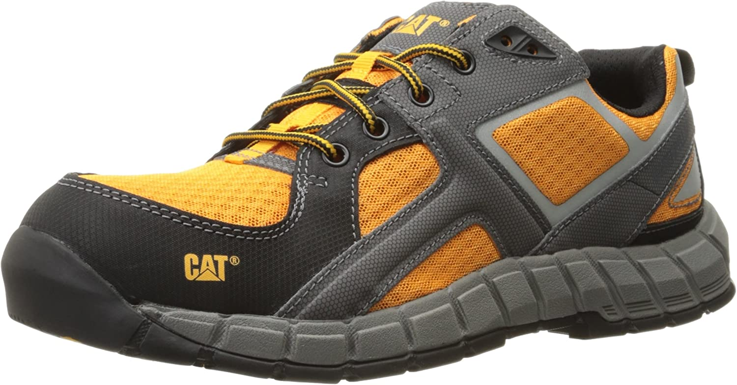 Caterpillar Men's Gain Steel Toe   orange Work shoes