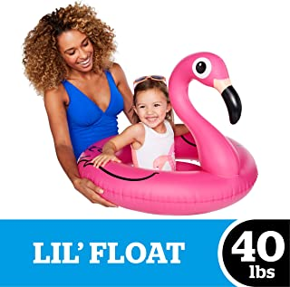 BigMouth Inc Lil' Water Float - Pool Float for Infants & Kids Ages 1-3, Perfect for Beginner Swimmers, Easy to Inflate & Durable (Pink Flamingo)