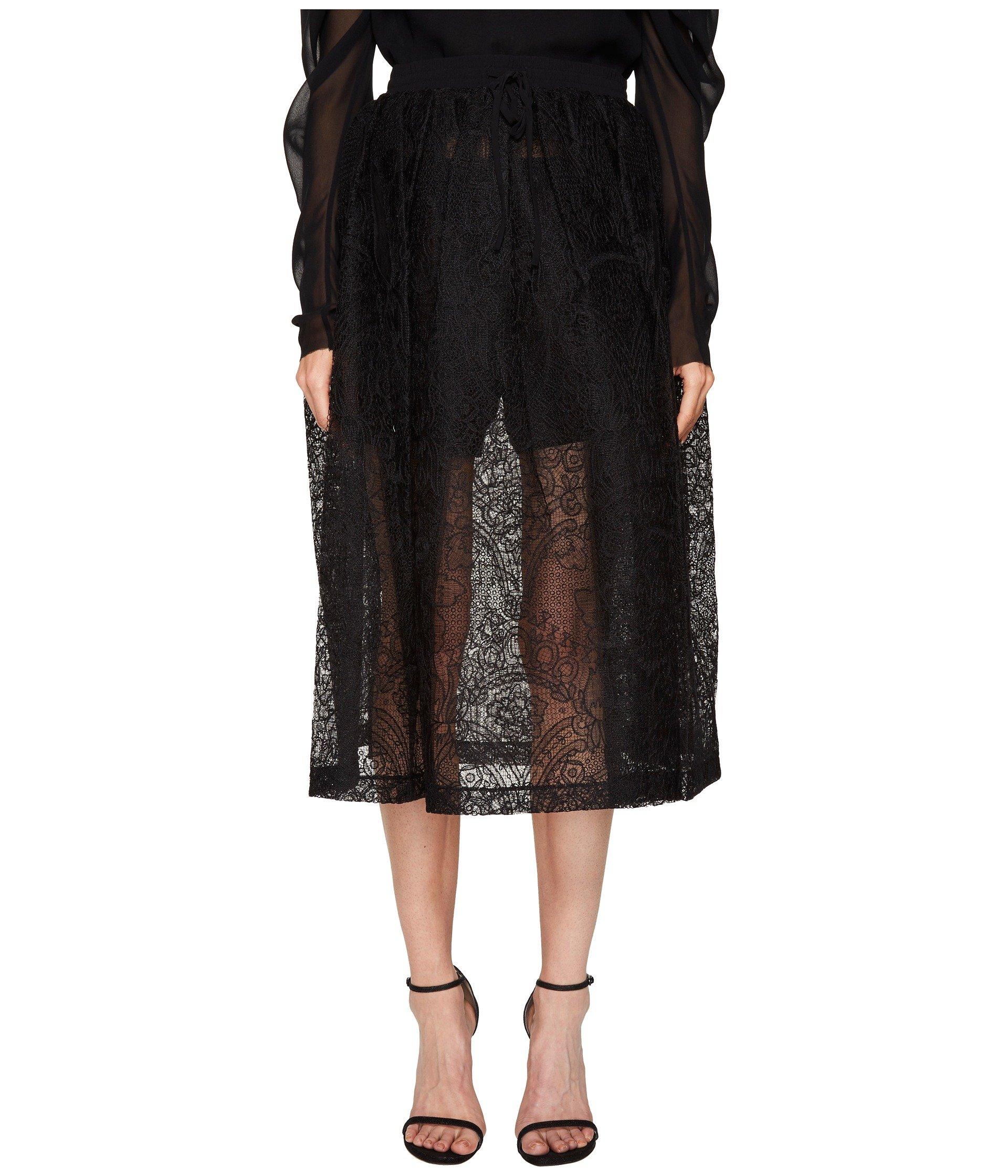 Mid Calf Skirt with Draw Cord Waistband